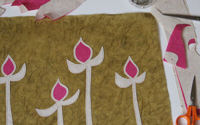 Lampshades Inspired by Rosebuds