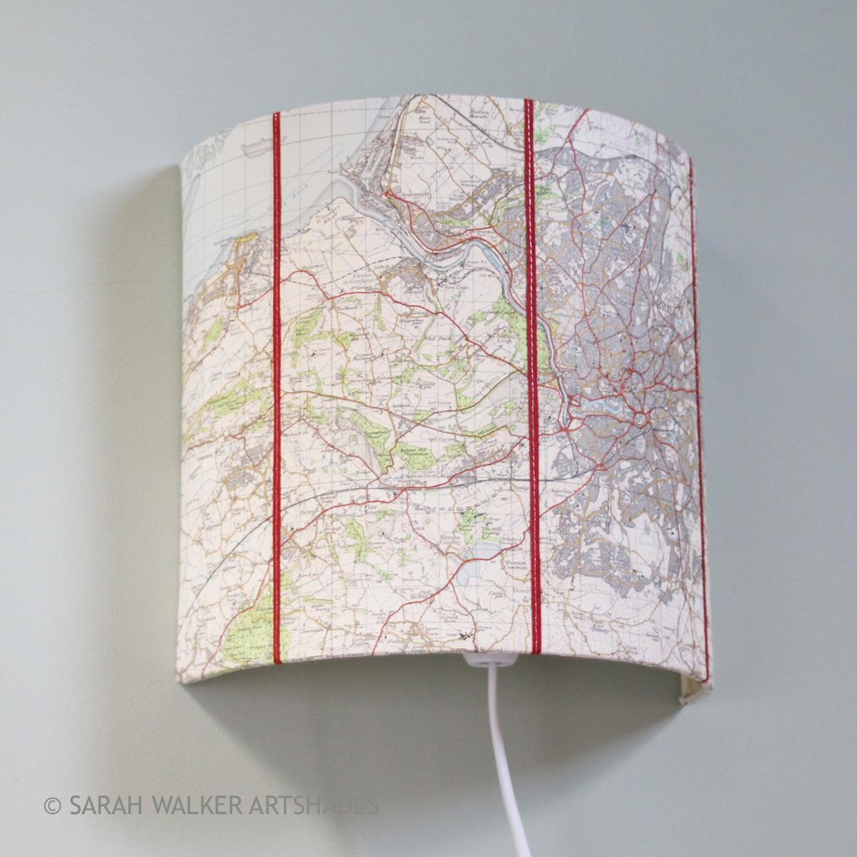 Map Half Shade Lamps