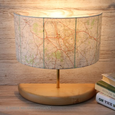 Oxford vintage map lamp