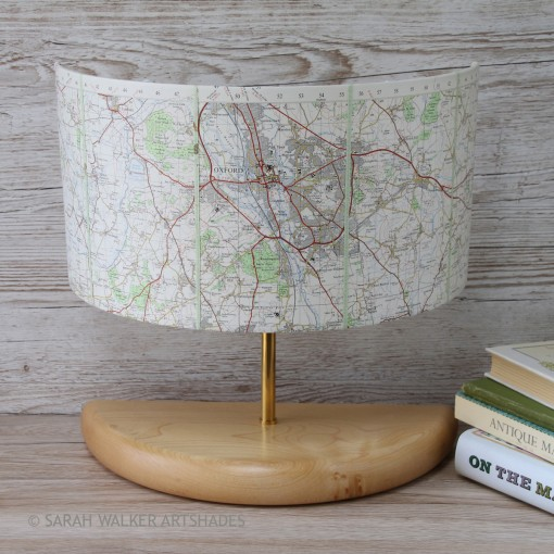 Oxford map wide half lamp