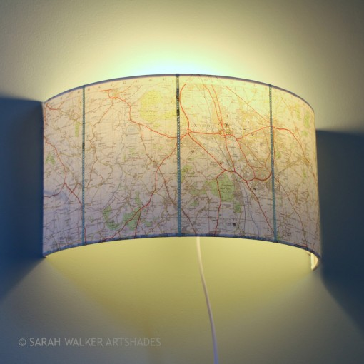 Oxford map wall shade for study