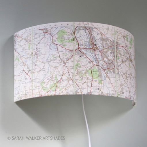 Oxford map wall light - off