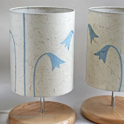 Pair of bluebell lamps