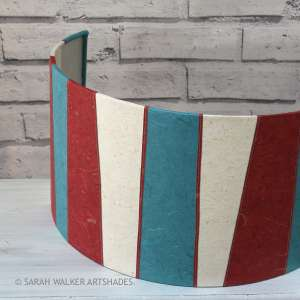 Red and teal wall lamp