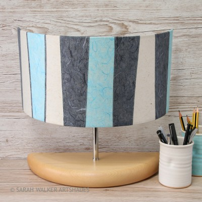 Turquoise wide half lamp off