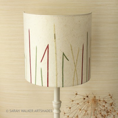 Stitched paper grasses lampshade