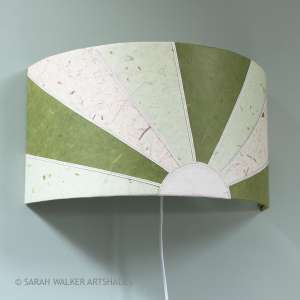 Green sunburst lampshade
