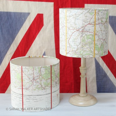 Map drum lamp