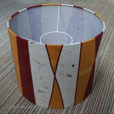 Striped floor lampshade