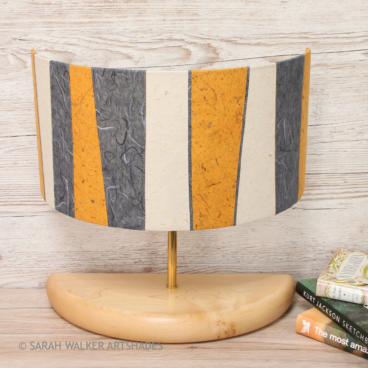 Wide Half Lamp Mustard Off