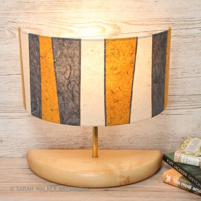Wide half lamp mustard on
