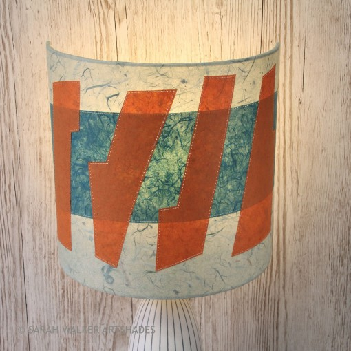 Abstract orange table lamp