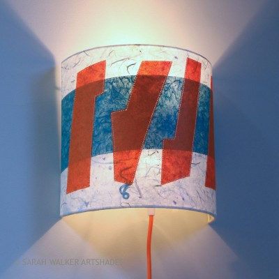 Abstract tall wall light