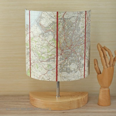 Bristol map half-lamp