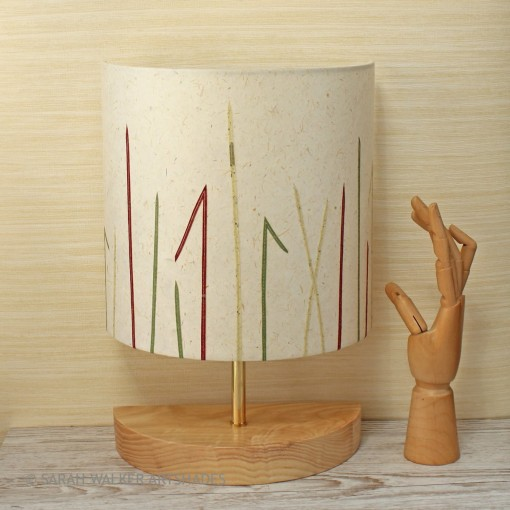 Console lamp grasses design