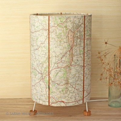 Malvern map lamp on 3 feet