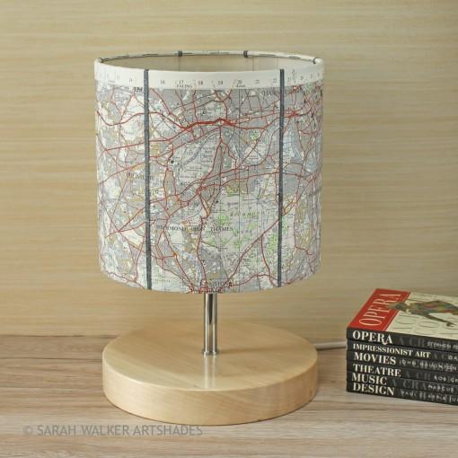 Map lampshade Richmond