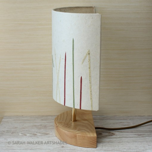 Half shade table lamp