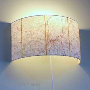 Durham map wall shade