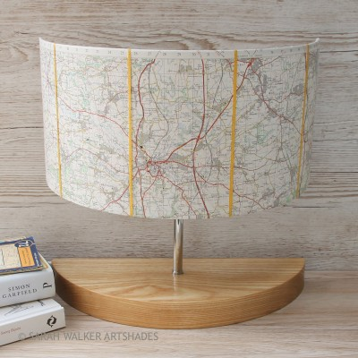 Large Durham map lamp