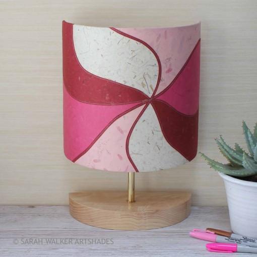 Pink half lamp