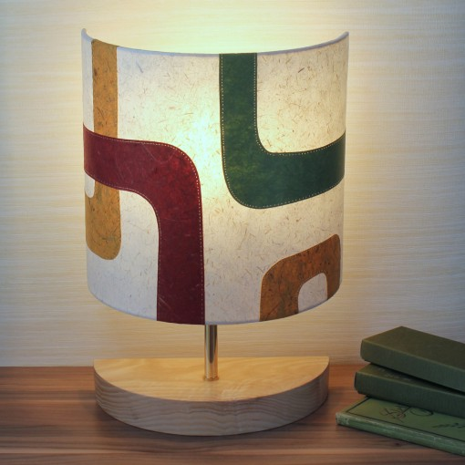Abstract retro design table lamp