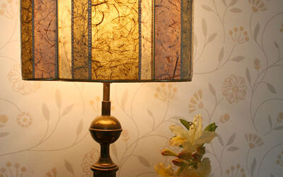Lampshades add the finishing touch