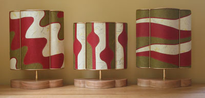 Claret-and-Olive-lampshade-