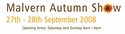 Malvern Autumn Garden Show 27-28 September