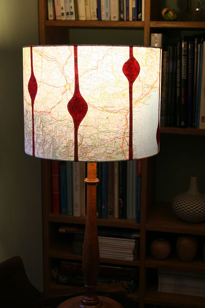Lampshades using Reclaimed Maps
