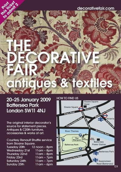 The Decorative Antiques and Textiles Fair 20 – 25 January 2009