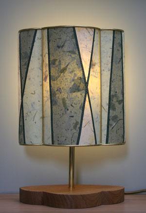 Green-random-stripe-lamp