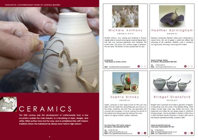 Guild Directory ceramics spread