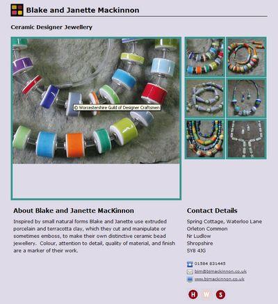 Guild webpage Janette Mackinnon