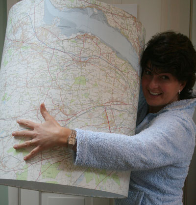 Me-and-huge-map-drum-shade