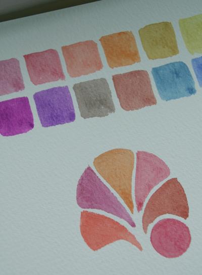 Watercolour-squares