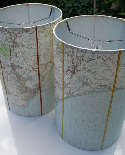 Custom OS Map Drum Shade