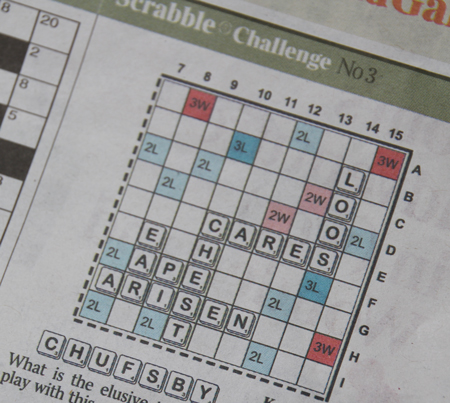 Three Takes …. on a Scrabble board