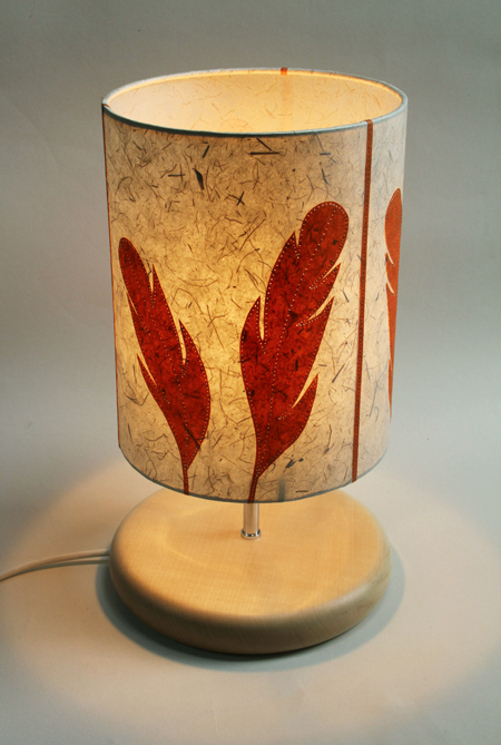 Feather-lamp-lit
