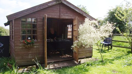 Artist-in-Residence in the Blue Ginger Summerhouse