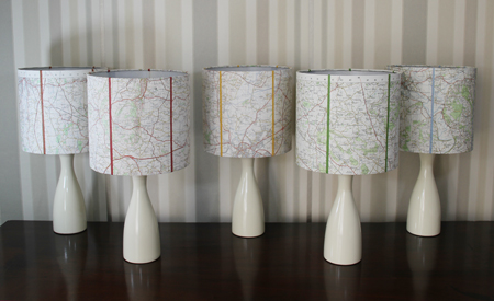 Herefordshire and Worcestershire Map Lamps