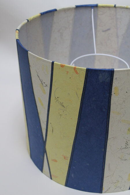 Yellow and Blue Stripes drum shade