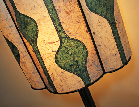 Green and Cream Lamp