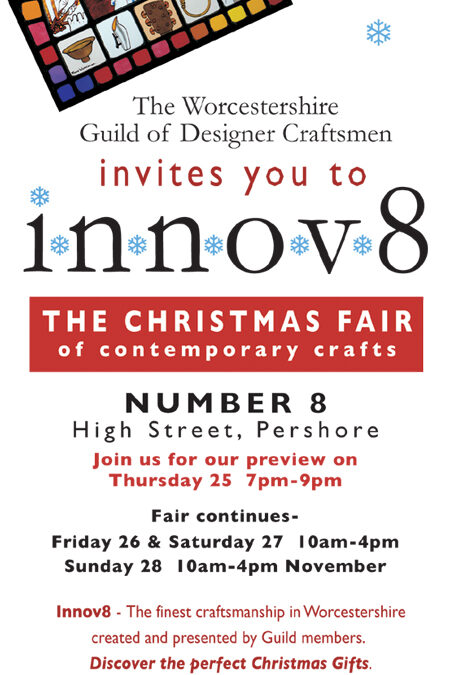 Innov8 – Contemporary Craft Fair 26 – 28 November