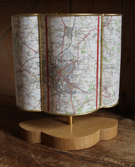 Cheltenham map table lamp