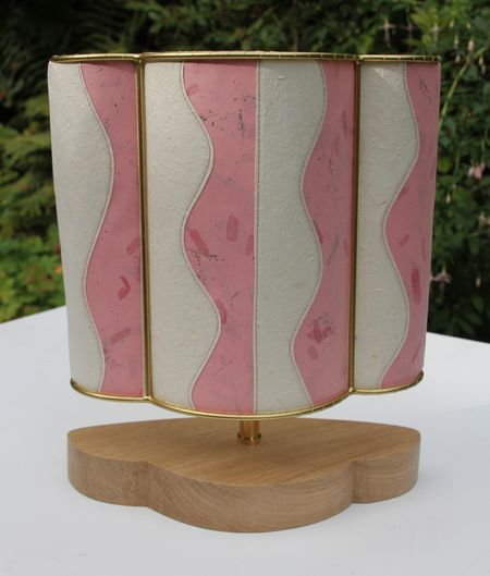 Raspberry-ripple lampshade
