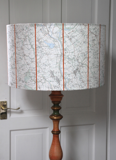 50cm drum map shades