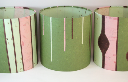 3 green and pink mini shades