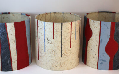 New lampshades for Contemporary Craft Fair