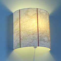 Bristol map wall light